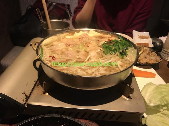 Dちゃんと食べた鍋