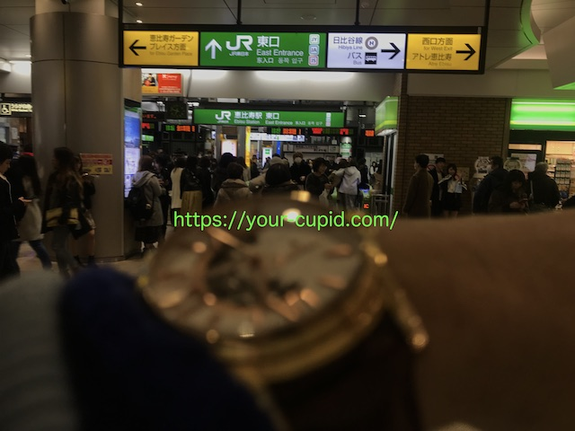 恵比寿駅東口でYKちゃんを待つ僕