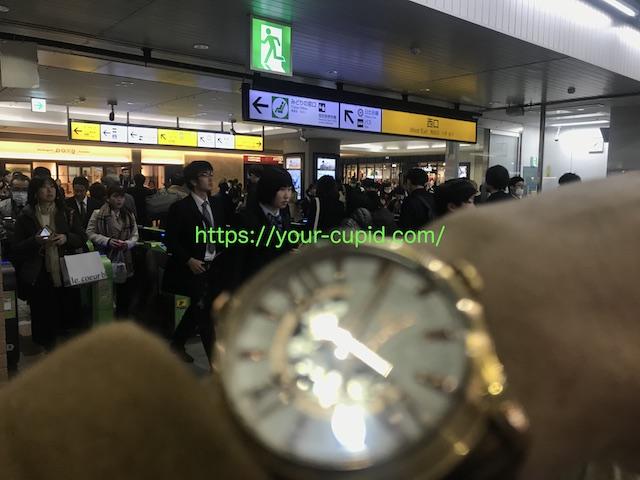 恵比寿駅でHMちゃんを待つ僕